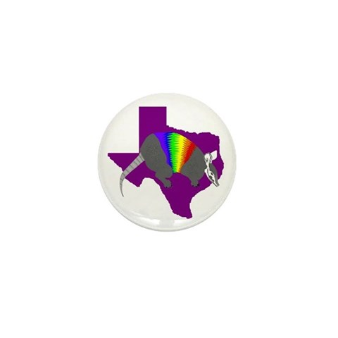 'Rainbow' Armadillo Texas 3 Mini Button 10 pack Military Mini Button 10 pack by CafePress