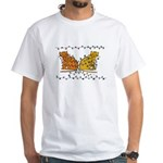 Holiday Cats White T-Shirt
