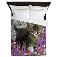 Emma in Flowers I Queen Duvet