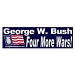 GW Bush: Four More Wars Sticker (Bumper)
