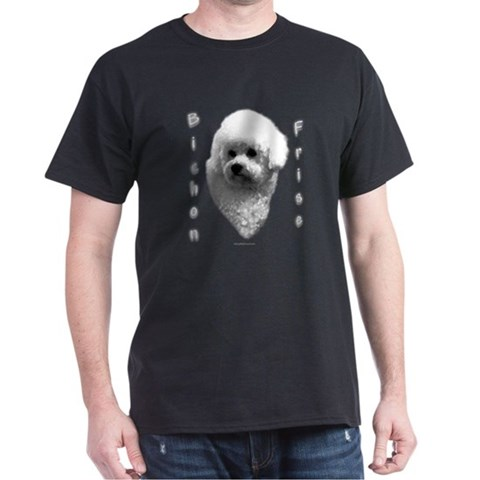Bichon Charcoal Pets Dark T-Shirt by CafePress