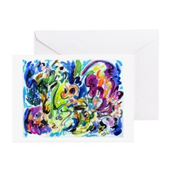 Abstract Color Whirl Greeting Cards (Pk of 10)