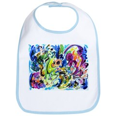Abstract Color Whirl Bib