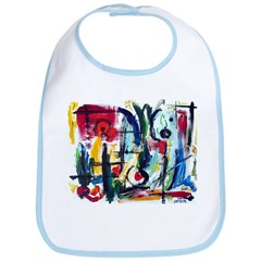 Abstract Color Whimsy Bib