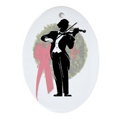 Violinist Christmas Ornament