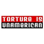 Torture is UnAmerican (bumper sticker)