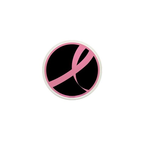 2006 RIBBON 01 - BLK  Breast cancer Mini Button 100 pack by CafePress