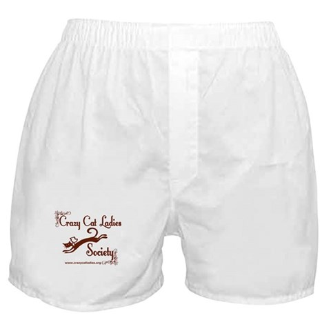 - Elegant CCLS Logo Cat Boxer Shorts by CafePress