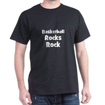 BASKETBALL Rocks Dark T-Shirt