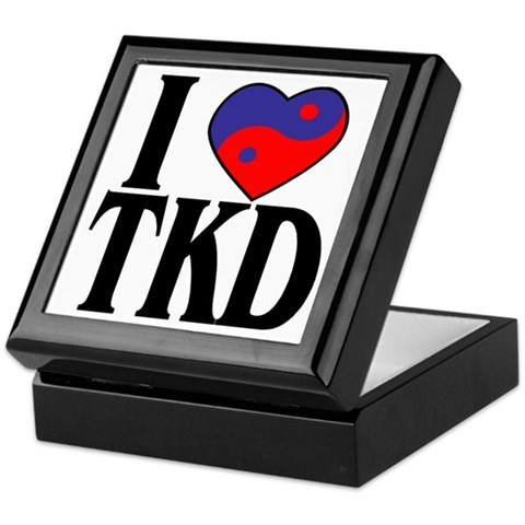 I Love Heart Tae Kwon Do Sports Keepsake Box by CafePress