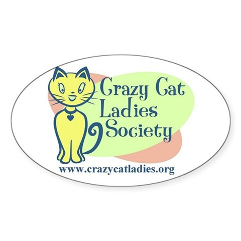 - Official CCLS Logo Cat Oval Sticker by CafePress