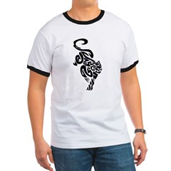 Black Panther Tribal Art 1 Ringer T