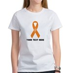Orange Awareness Rib Women's Classic White T-Shirt