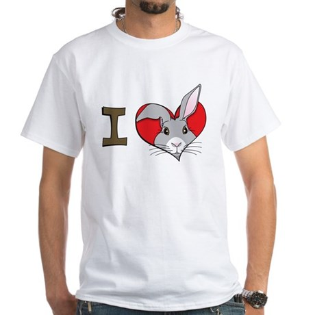 I heart rabbits White T-Shirt