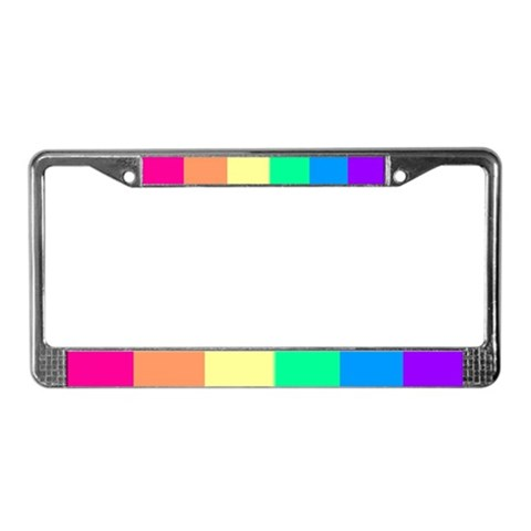 - Lesbian Sharp Gay pride License Plate Frame by CafePress