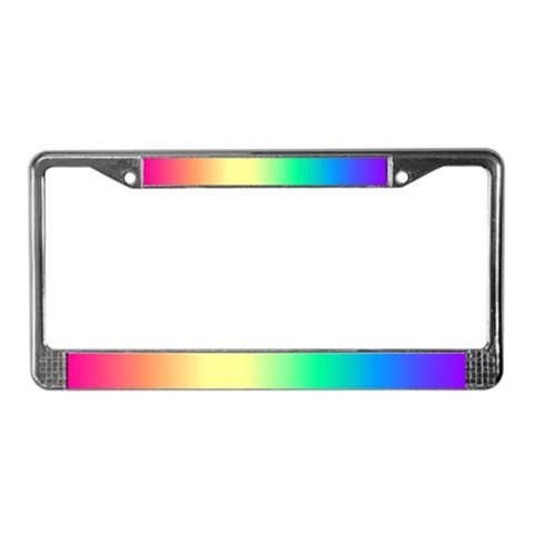 - Lesbian Fading Gay pride License Plate Frame by CafePress