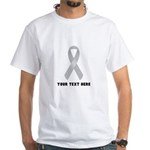 Gray Awareness Ribbon Customized Shirt