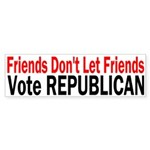 Friends Vote Republican Sticker (Bumper)