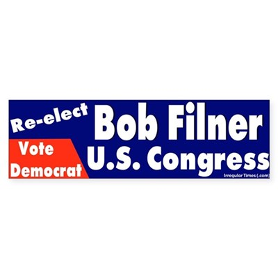 Re-elect Bob Filner Bumper Sticker