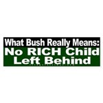 No Rich Child Left Behind (Sticker)