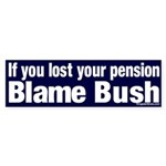 Lost Pension Blame Bush Sticker (Bumper)