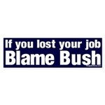 Lost Job? Blame Bush Sticker (Bumper)