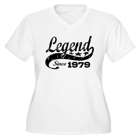 Product Image of Legend Since 1979 Women's Plus Size V-Neck T-Shirt