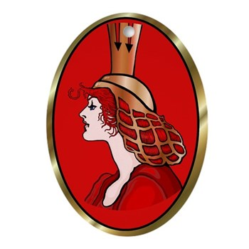 Glinda the Good Red Oval Ornament | Wonderful Wizard of Oz Clothing | Wizard of Oz T-Shirts