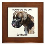 Boxers are the Best Brindle u Framed Tile