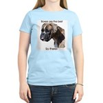 Boxers are the Best Brindle u Women's Pink T-Shirt
