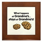 Great for Grandma's kitchen! What happens at Grandma's stays at Grandma's! The perfect pact to make with grandkids.