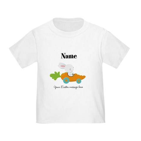 Product Image of Personalized Easter Bunny in Carrot Car T-Shirt