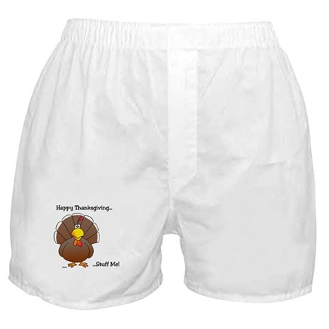 'Thanksgiving'  Humor Boxer Shorts by CafePress