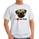 I Heart My Pug Ash Grey T-Shirt