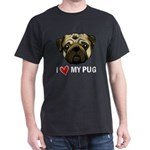 I Heart My Pug Dark T-Shirt