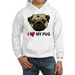 I Heart My Pug Hooded Sweatshirt