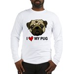 I Heart My Pug Long Sleeve T-Shirt