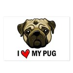 I Heart My Pug Postcards (Package of 8)