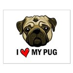 I Heart My Pug Small Poster