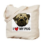 I Heart My Pug Tote Bag