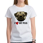 I Heart My Pug Women's T-Shirt