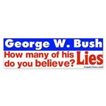 How many Bush Lies Bumper Sticker