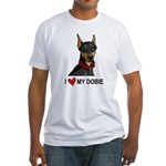 I Heart My Dobie Fitted T-Shirt