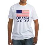 Flag: Obama 2008 Fitted T-Shirt