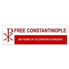 Free Constantinople Bumper Sticker > The Waffling Anglican | CafePress