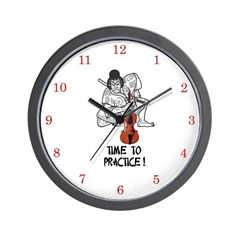 suzuki violin wall clock
