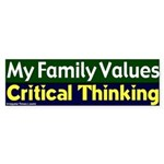 Value Critical Thinking Bumper Sticker