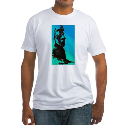 Product Image of Easter Island Head Fitted T-Shirt