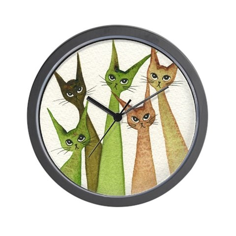 Yukon Stray Cats Clock Funny Wall Clock by CafePress