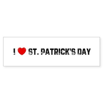 I Love  St. Patrick's Day Bumper Sticker
